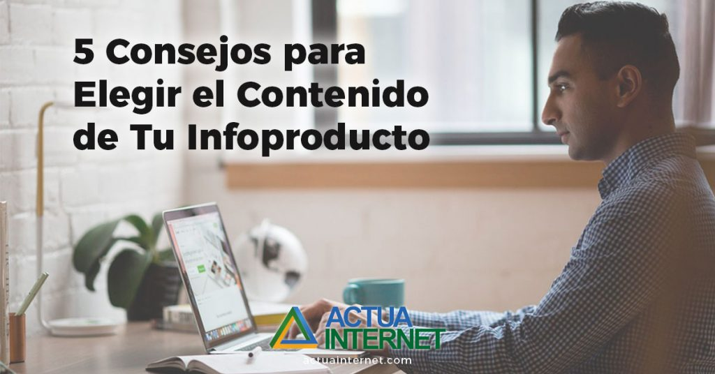 elegir contenido para tu infoproducto